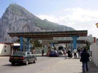 Grenze zwischen Spanien und Gibraltar