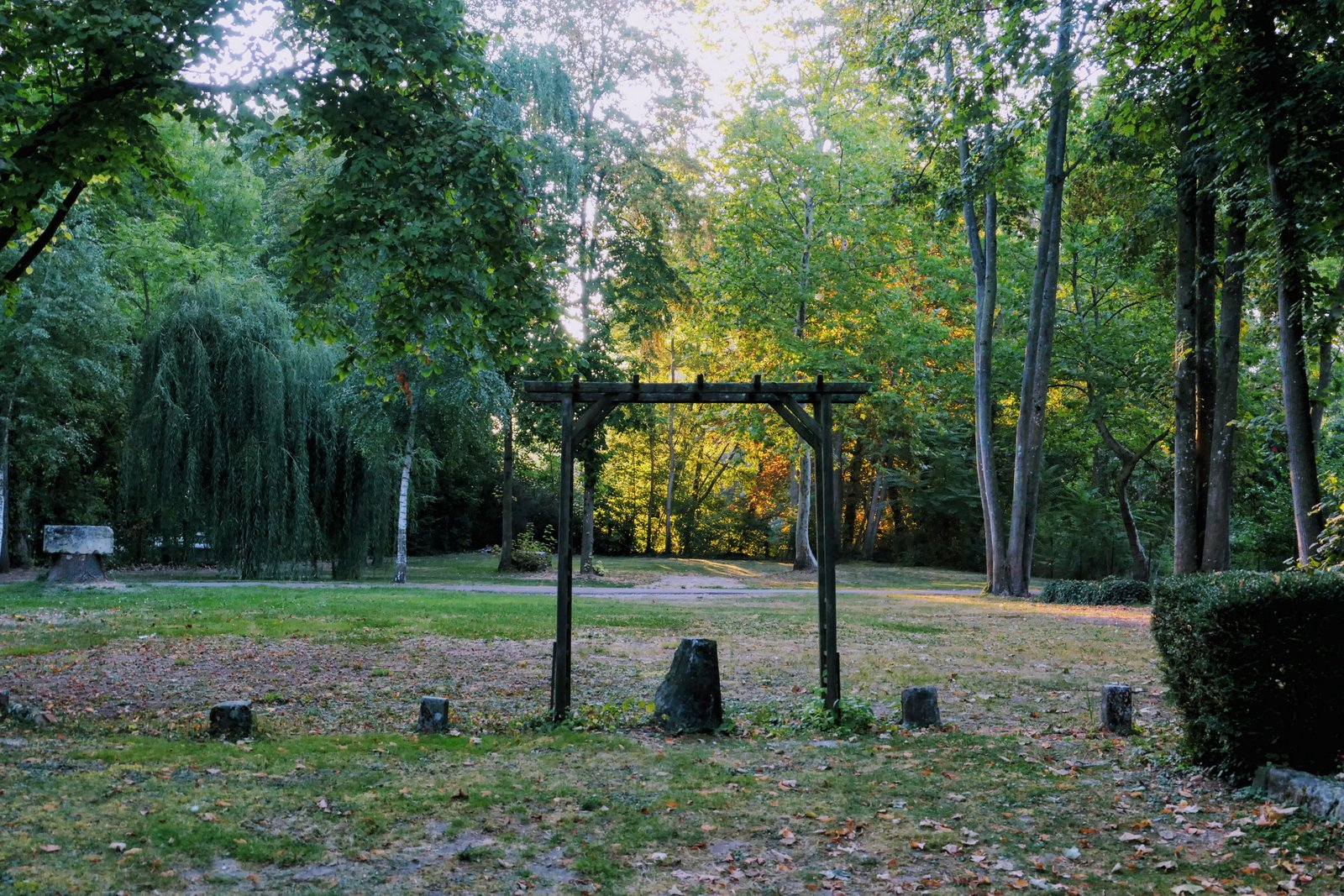Campingplatz im Herbst